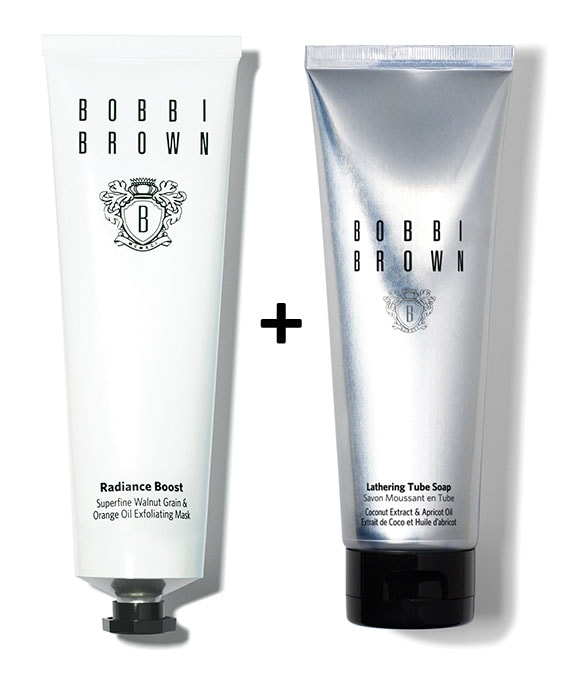 radiance boost mask + extra bright advanced foaming cleanser